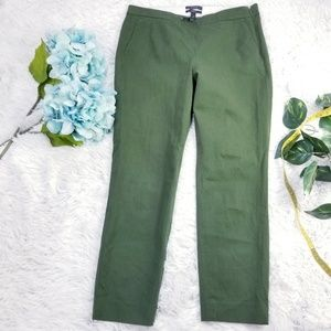 J.crew stretch  green pants trousers size 6